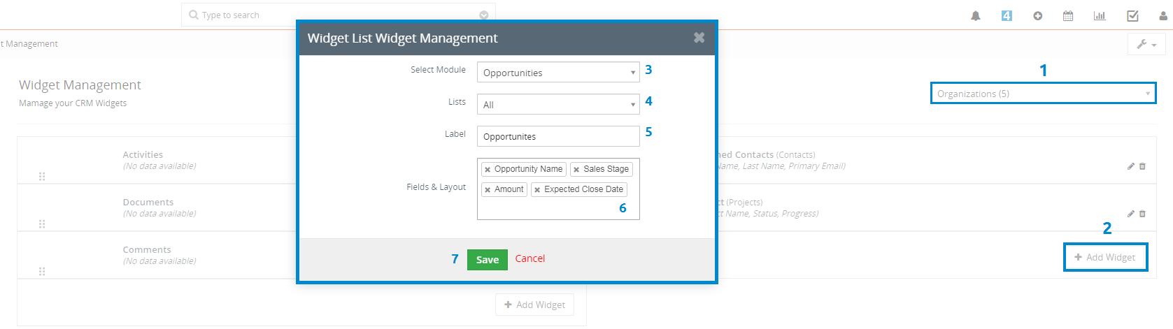 Creating widget step by step