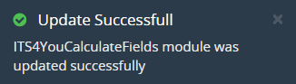 How to update Calculated FIelds ITS4YOU