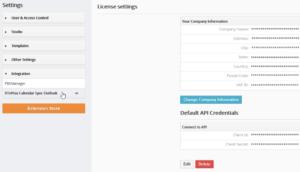 Vtiger Outlook Plugin - Credetntials Settings