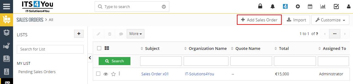 Warehouses - Create Sales Order
