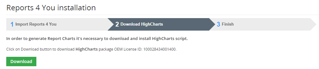 vtiger features news Reports 4 You and New instalaltion of HighCharts