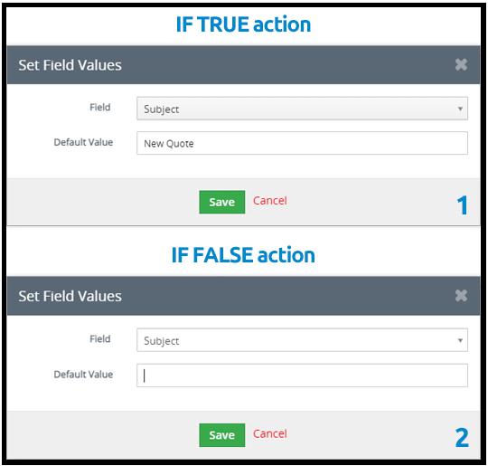 Clear field values process vtiger