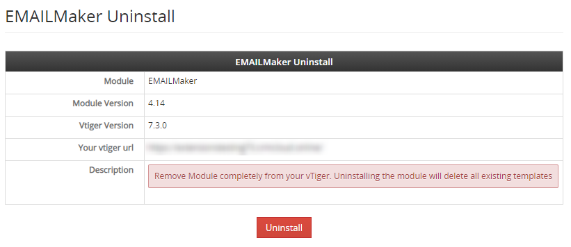 email maker uninstall label