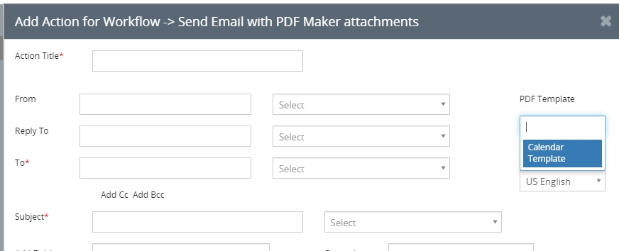 creating event workflow with the calendar template pdf maker